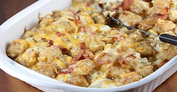 Chicken Bacon Ranch Tater Tot Casserole Recipe