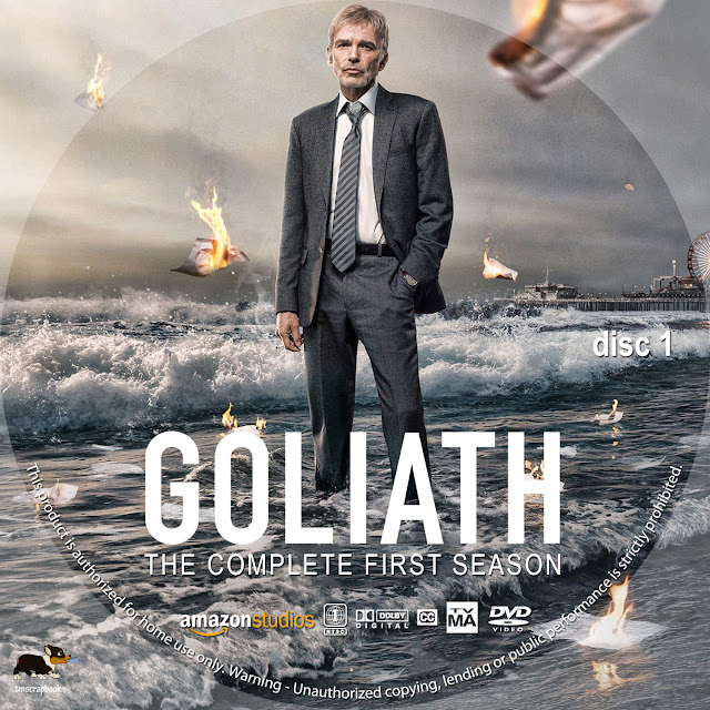 Goliath Season 1 Disc 1 DVD Label