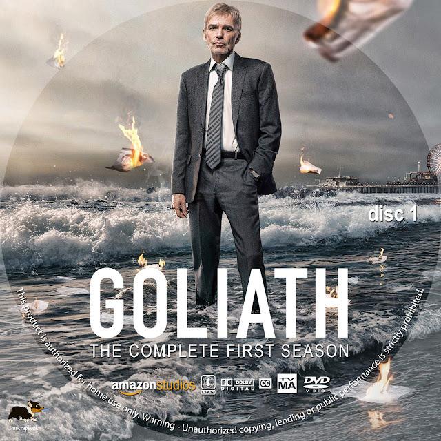 Goliath Season 1 Disc 1 DVD Label