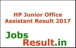 HP Junior Office Assistant Result 2017