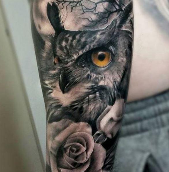 110 Cute Owl Tattoos For Men 2019 Mystic Designs Ideas Tattoo