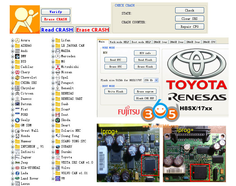 Iprog+ prog clone test and feedbackauto diagnostic tool download
