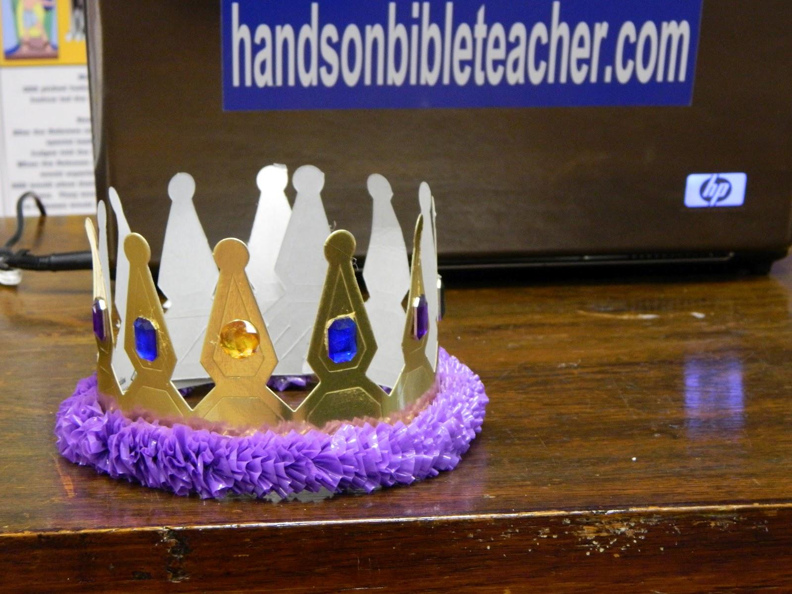 Hands On Bible Teacher David Crowned King
