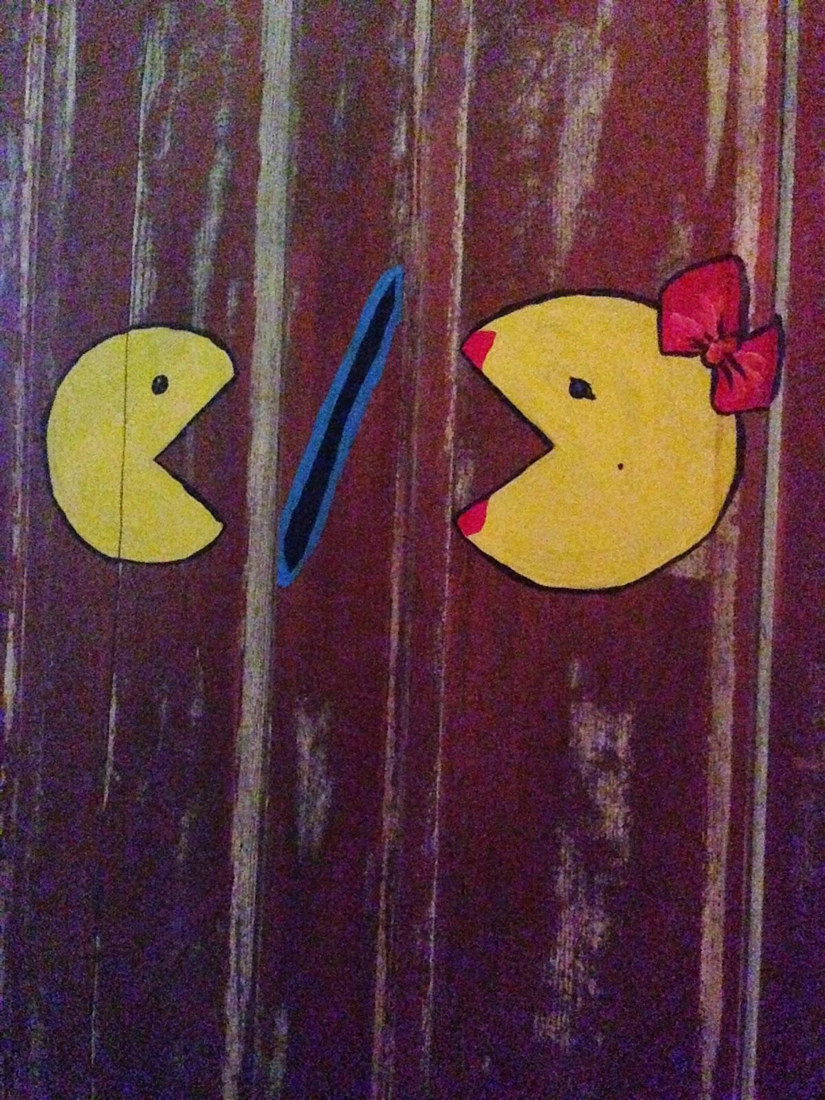 Pac Man Washroom sign