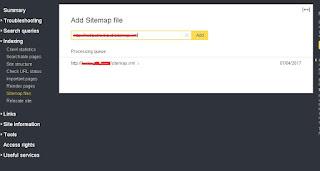 add sitemap to yandex