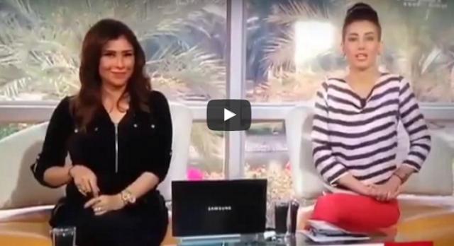 """بالفيديو  موقف محرج لمذيعة العربية على الهواء وصفه البعض """"بالفادح""""!.. ما رأيكم"""
