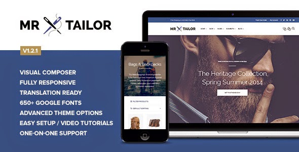 Mr. Tailor v1.3.1 Retina Responsive WooCommerce Theme