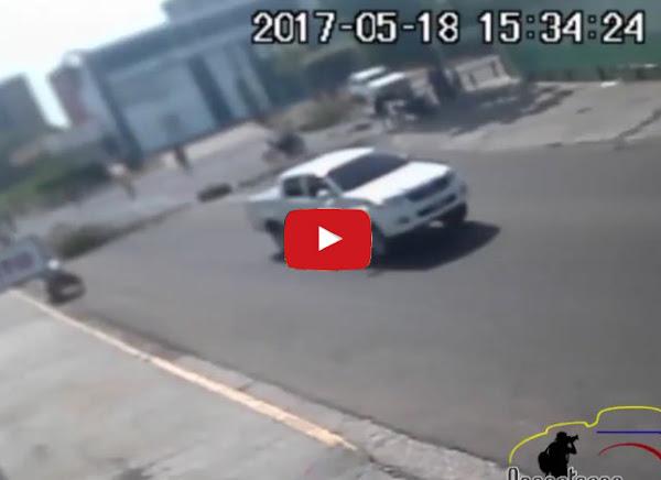 La camioneta que atropelló a Paulo Moreno
