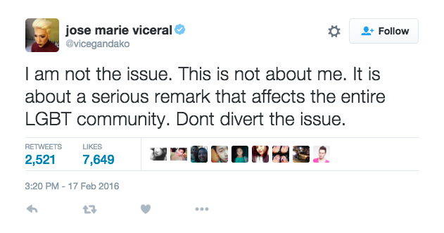 Vice Ganda Posted Response Tweets To Criticisms Over His Reaction Towards Pacquiao's Remarks.
