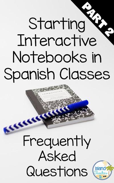 Spanish Interactive Notebooks Part 2