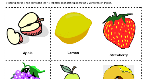 Imagenes De Frutas En Ingles Para Imprimir La Idea De