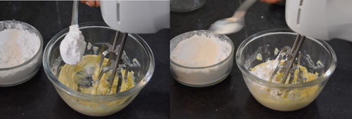preparing frosting