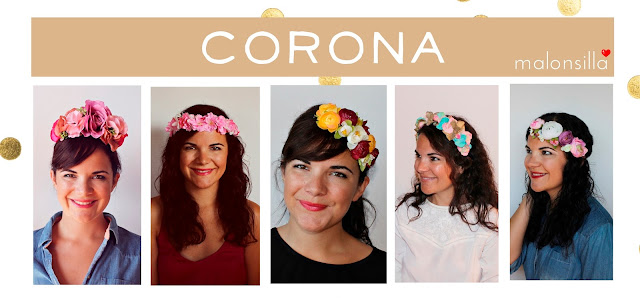 Invitadas con diademas y coronas de flores para bodas y eventos