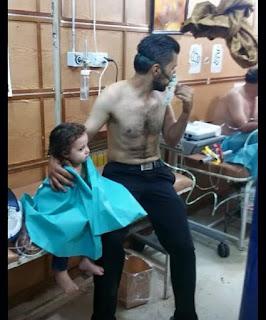 Mangsa bom gas klorin di aleppo,syria