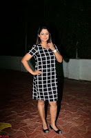 Shilpa Chakravarthy in Dark blue short tight dress At Srivalli Movie Pre Release Event ~  Exclusive Celebrities Galleries 058.JPG