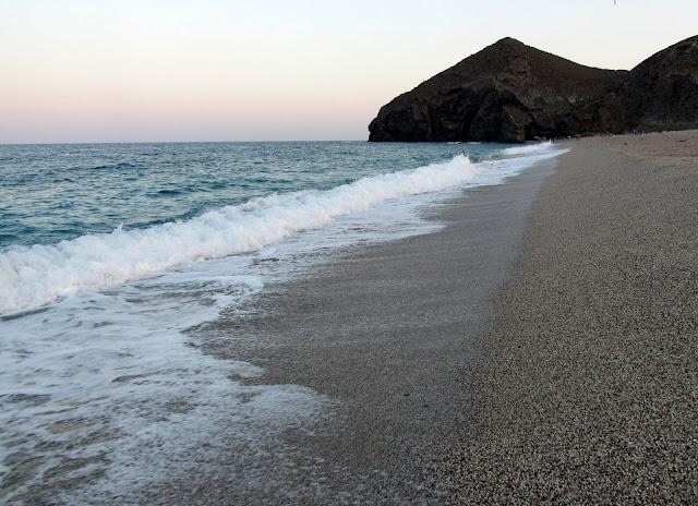 Atardecer en la playa de los Muertos. Playa de los Muertos
