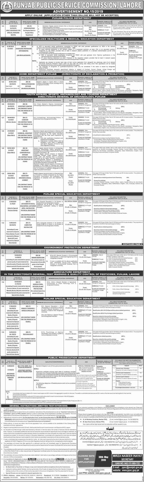 ppsc-jobs-may-2019