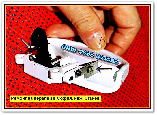 пералнята не работи,  блокирал люк, блокировка, люк,  дренажна помпа, ключалка на люка,  четки,  графитен прах, смяна, смяна на маншон, смяна на ремък, запушен филтър, запушена помпа, запушени маркучи, пералнята тече,  не центрофугира, пералнята не включва, програматор,пусков клавиш, ремонт на платки,
