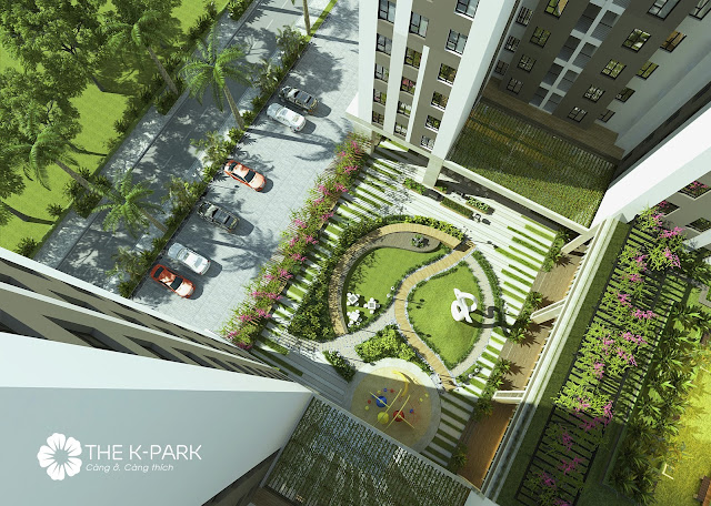Sân vườn ngay tại dự án The K Park