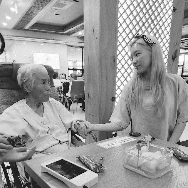SNSD TaeYeon Grandmother