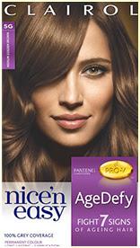 Nice'n Easy Age Defy Permanent Hair Dye Med Golden Brown 5G