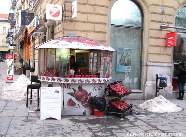 Сараево - продавец гранатового сока