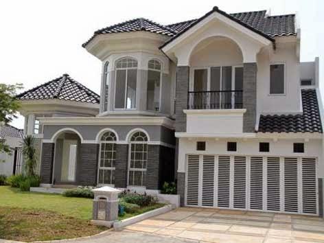 desain rumah klasik mewah dua lantai | desain rumah