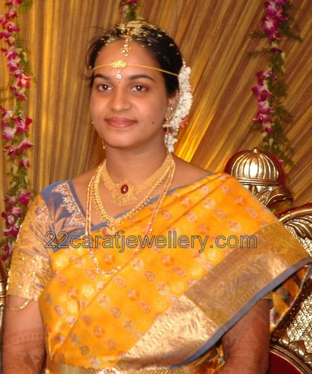 South Indian Bride With Polki Set And Gundla Mala