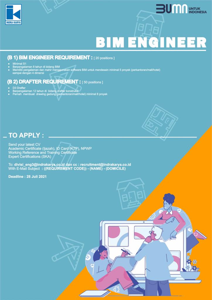 Lowongan Kerja BUMN Karyawan PT Indra Karya (Persero) Juli 2021