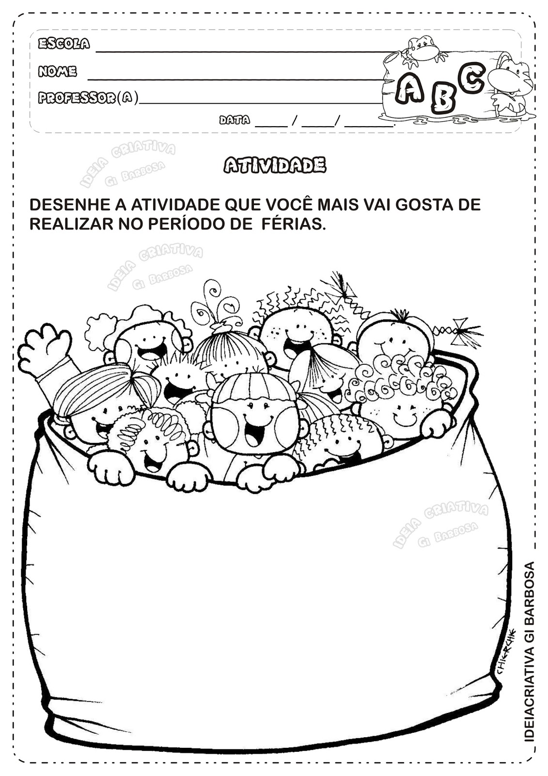 Atividade De Ferias Educacao Infantil