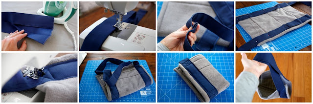 Step-by-step making a mobility sling for dogs
