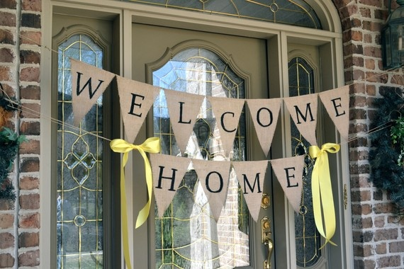 Welcoming committee for Welcome home decoration ideas