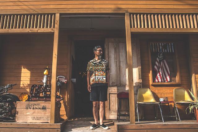 アロハ ヴィンテージ ハワイアン デュークカナハモク シャツ 東洋 サンサーフ ホライゾンパターン 日本製 シュガーケーン 着こなし コーディネート