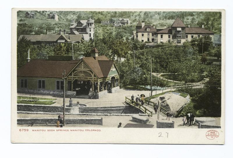Manitou Soda Springs postcard by Detroit Publishing Company