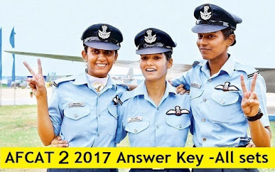 AFCAT & EKT 2 2017 Answer Key, Cutoff Marks & Result Date