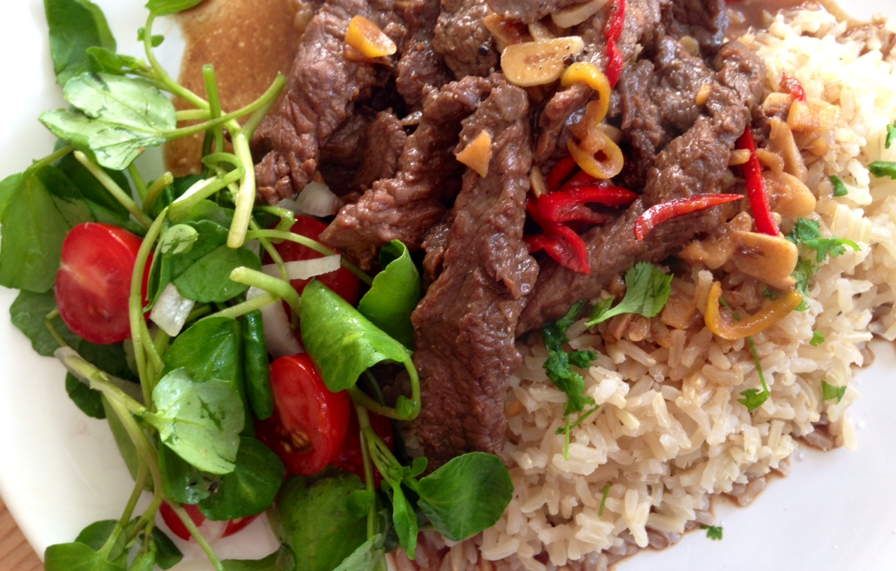 Beef Loc Lac, Thai Beef