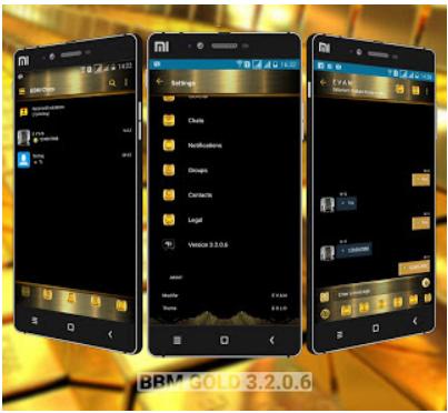 BBM MOD Gold Style v3.2.0.6 Apk (Anti Lemot) Terbaru 2016