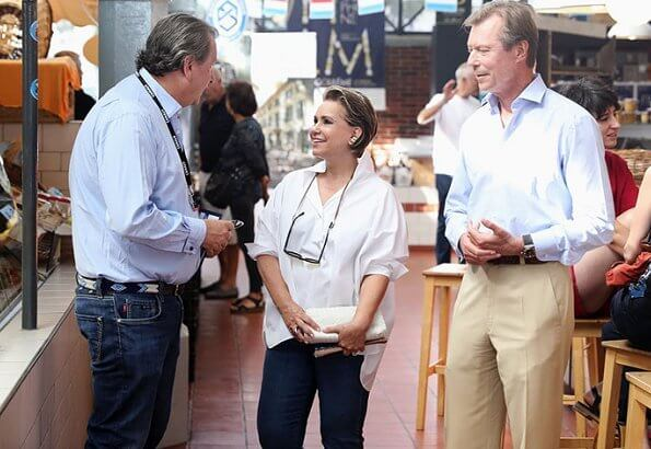 The Duke and Duchess visited one of Angoulême's markets