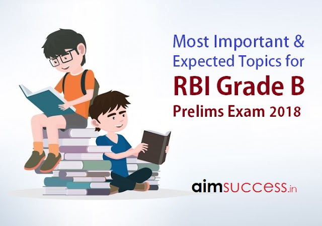 Important Expected Topics for RBI Grade B Prelims Exam 2018