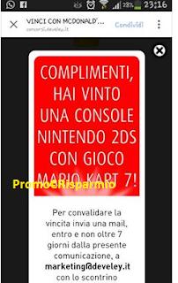 Logo Gioca e vince subito Nintendo 2DS + gioco Mario Kart 7: prova anche tu