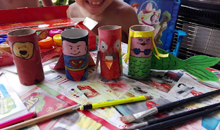Toilet roll puppets #CreativeKids #Kidscraft