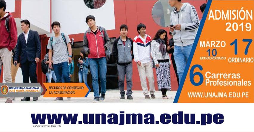 Resultados UNAJMA 2019-1 (Domingo 17 Marzo) Lista de Ingresantes - Examen de Admisión Ordinario - Universidad Nacional José María Arguedas - www.unajma.edu.pe
