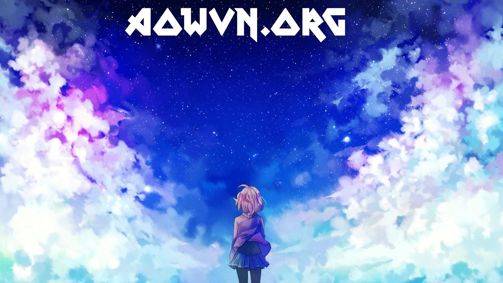 kuriyama mirai back view kyoukai no kanata stars clouds - [ Anime 3gp Mp4 ] Kyoukai no Kanata BD + Movie + Spin Off  + Special | Vietsub - Cực hay!!