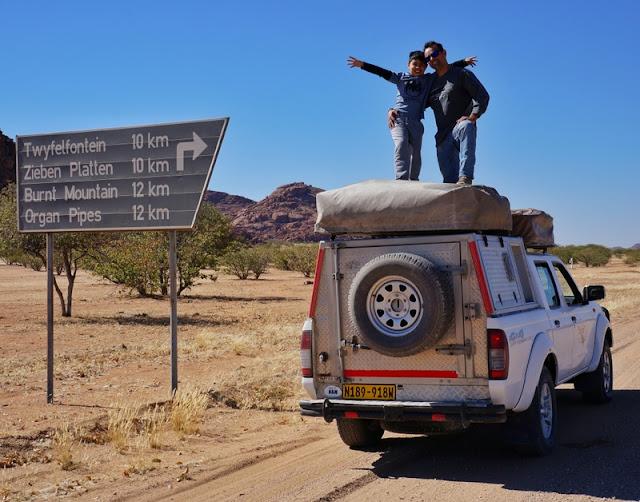 Como viajar pela Namíbia numa camper com barracas no teto - dicas práticas