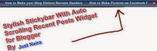 Tiện ích Tiêu đề bài mới chạy trên đầu blogspot