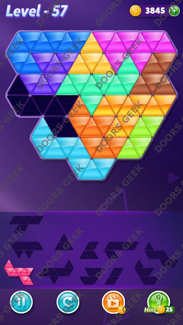 Block! Triangle Puzzle Challenger Level 57 Solution, Cheats, Walkthrough for Android, iPhone, iPad and iPod