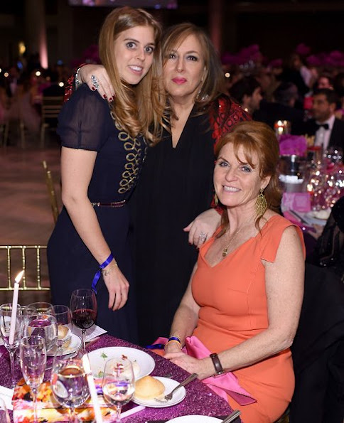 Sarah Ferguson and Princess Beatrice attended the 2016 Angel Ball at Cipriani Wall Street in NYC