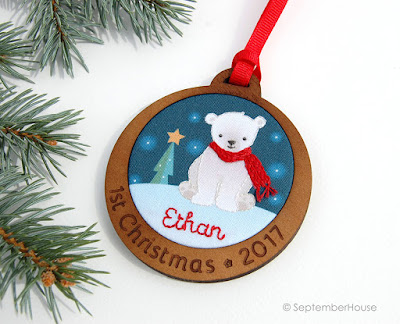Baby's First Christmas Ornament Personalized Polar Bear Ornament by SeptemberHouse