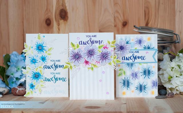 открытки ручной работы, штампинг, штампы, скрапбукинг, цветы, примитив, наив