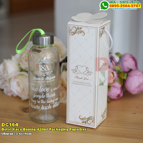 Botol Kaca Bening 420ml Packaging Paperbox